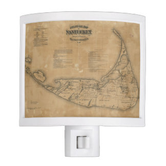 Vintage Map of Nantucket (1869) Nite Lites