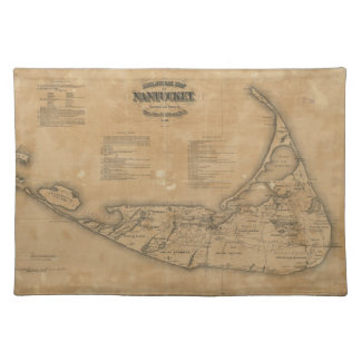 Vintage Map of Nantucket (1869) Placemat