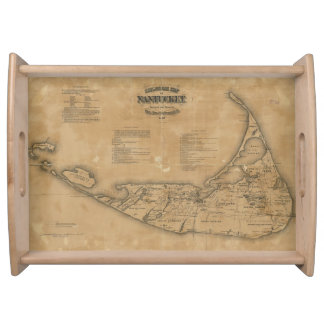 Vintage Map of Nantucket (1869) Serving Tray