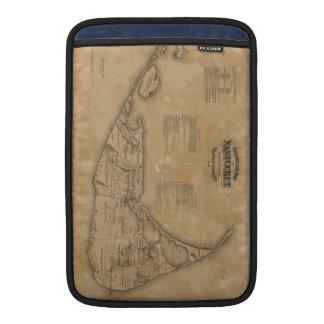 Vintage Map of Nantucket (1869) Sleeve For MacBook Air