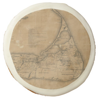 Vintage Map of Nantucket (1869) Sugar Cookie