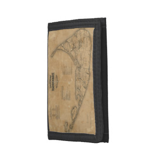 Vintage Map of Nantucket (1869) Trifold Wallet