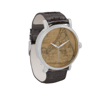 Vintage Map of Nantucket (1869) Wristwatches
