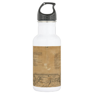 Vintage Map of Nantucket (1869) Water Bottle