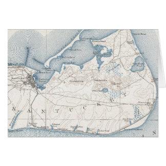 Vintage Map of Nantucket (1919) Greeting Card