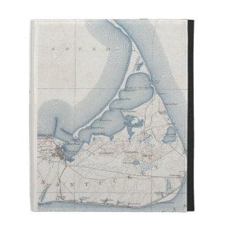 Vintage Map of Nantucket 1919 iPad Folio Cases