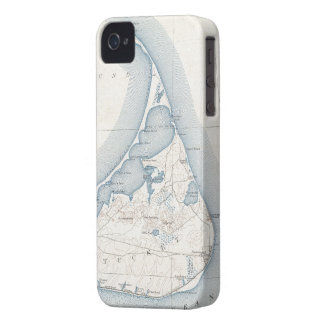 Vintage Map of Nantucket (1919) iPhone 4 Case-Mate Cases