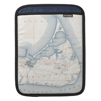 Vintage Map of Nantucket (1919) Sleeves For iPads