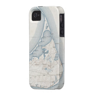 Vintage Map of Nantucket (1919) iPhone 4 Cases