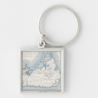 Vintage Map of Nantucket (1919) Key Chain