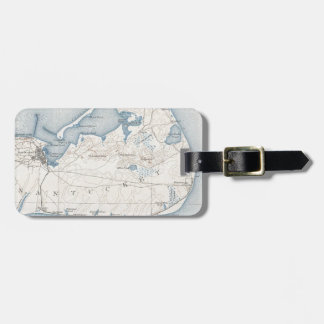 Vintage Map of Nantucket (1919) Luggage Tag