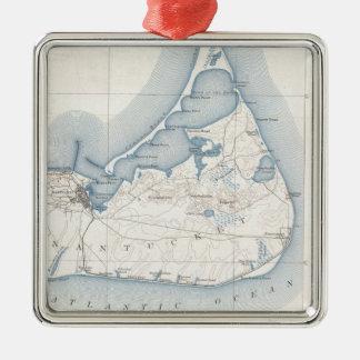 Vintage Map of Nantucket (1919) Metal Ornament