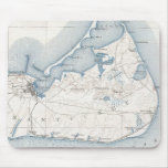 Vintage Map of Nantucket (1919) Mouse Pad