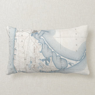 Vintage Map of Nantucket (1919) Pillow