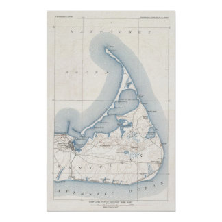 Vintage Map of Nantucket (1919) Posters