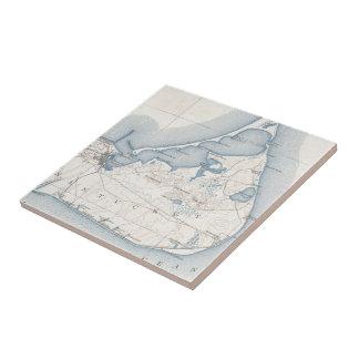 Vintage Map of Nantucket (1919) Tile