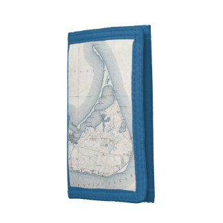 Vintage Map of Nantucket (1919) Tri-fold Wallets