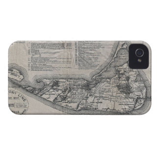 Vintage Map of Nantucket iPhone 4 Covers