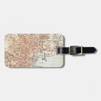 Vintage Map of Naples Italy (1897) Bag Tag