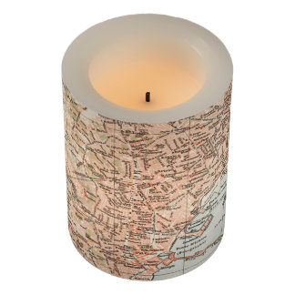 Vintage Map of Naples Italy (1897) Flameless Candle