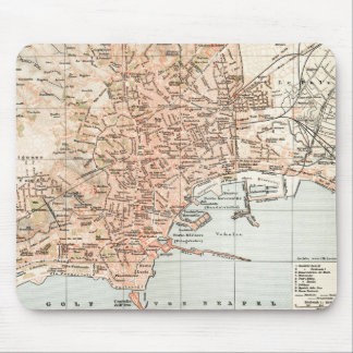 Vintage Map of Naples Italy (1897) Mouse Pad