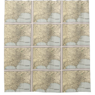 Vintage Map of Naples Italy (1901) Shower Curtain
