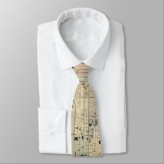 Vintage Map of Nashville Tennessee (1877) Neck Tie