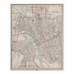 Vintage Map of Nashville Tennessee (1901) Poster