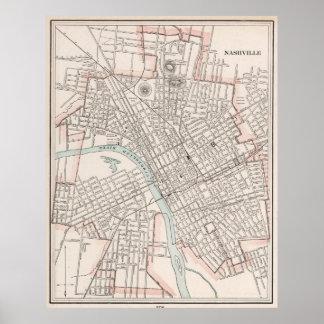 Vintage Map of Nashville Tennessee (1901) Poster