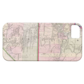 Vintage Map of Nevada and Utah (1866) iPhone SE/5/5s Case