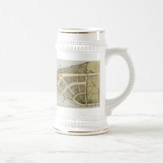 Vintage Map of New Amsterdam (1660) Beer Stein