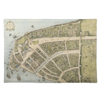 Vintage Map of New Amsterdam (1660) Cloth Placemat