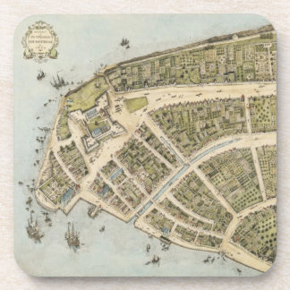 Vintage Map of New Amsterdam (1660) Coaster