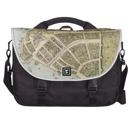Vintage Map of New Amsterdam (1660) Commuter Bag