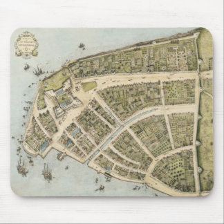 Vintage Map of New Amsterdam (1660) Mouse Pad