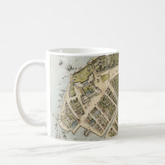 Vintage Map of New Amsterdam (1660) Classic White Coffee Mug