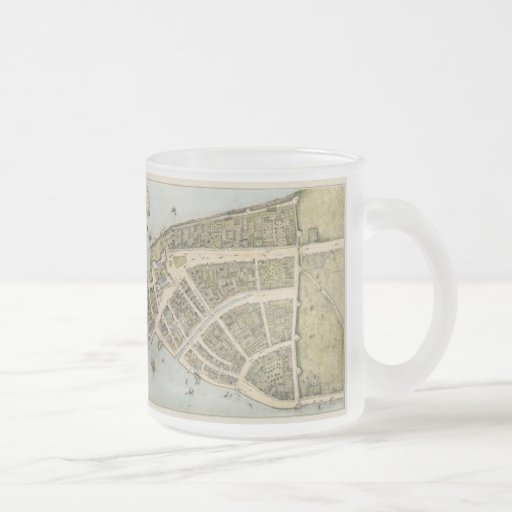 Vintage Map of New Amsterdam (1660) Coffee Mugs