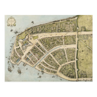 Vintage Map of New Amsterdam (1660) Postcards