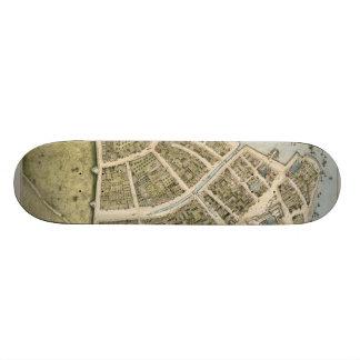 Vintage Map of New Amsterdam (1660) Skateboard Deck
