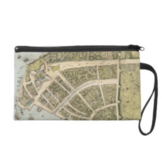 Vintage Map of New Amsterdam (1660) Wristlet Purse