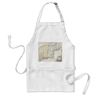 Vintage Map of New England (1716) Adult Apron