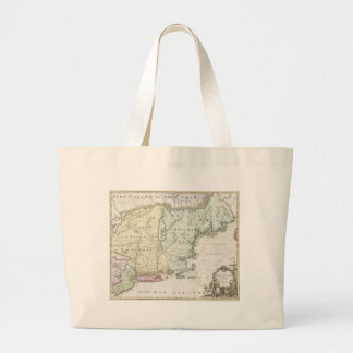 Vintage Map of New England (1716) Bags
