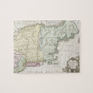 Vintage Map of New England (1716) Jigsaw Puzzle