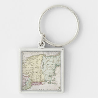 Vintage Map of New England (1716) Keychains