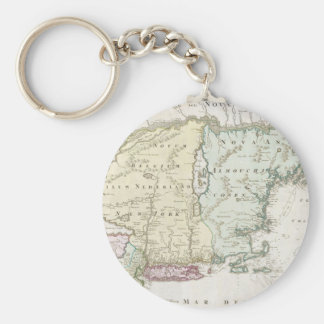 Vintage Map of New England (1716) Keychain