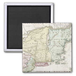 Vintage Map of New England (1716) Magnets