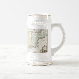 Vintage Map of New England (1716) Coffee Mug