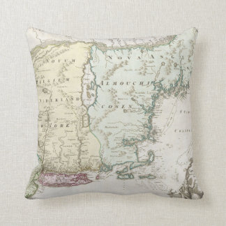 Vintage Map of New England (1716) Pillows