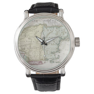 Vintage Map of New England (1716) Wristwatch