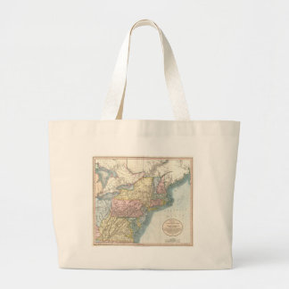 Vintage Map of New England (1821) Tote Bags